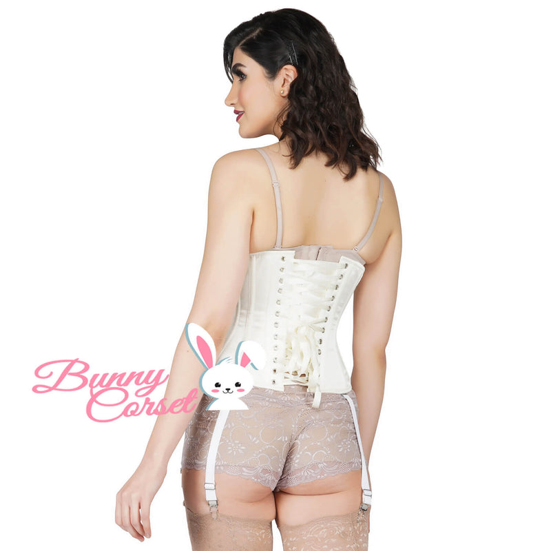 Aghna Bespoke Ivory Satin Corset