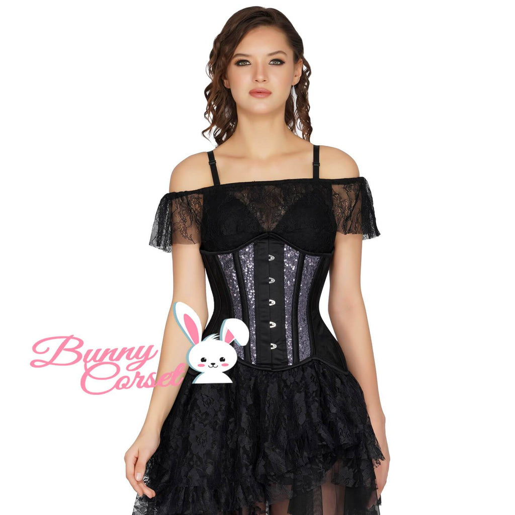 Madelynn Sequin Mesh Couture Corset