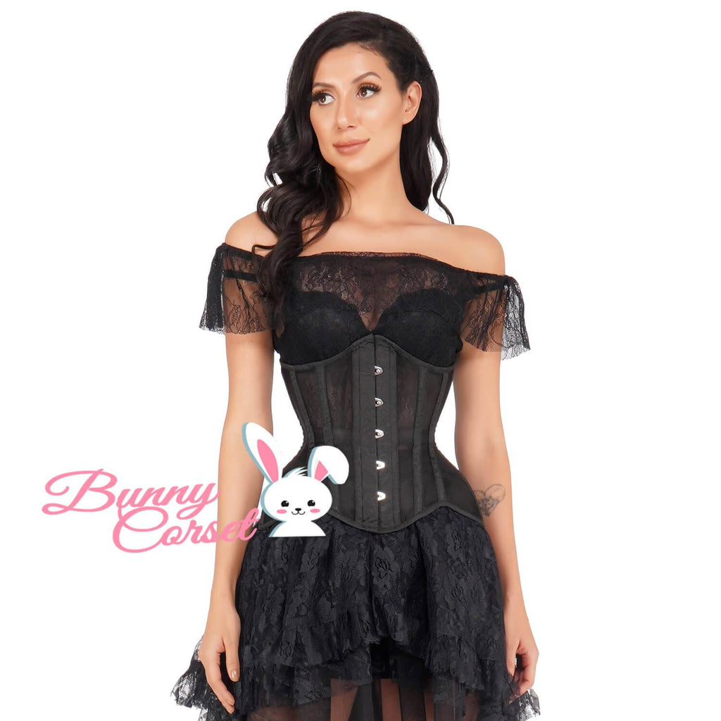 Candyce Black Mesh Corset