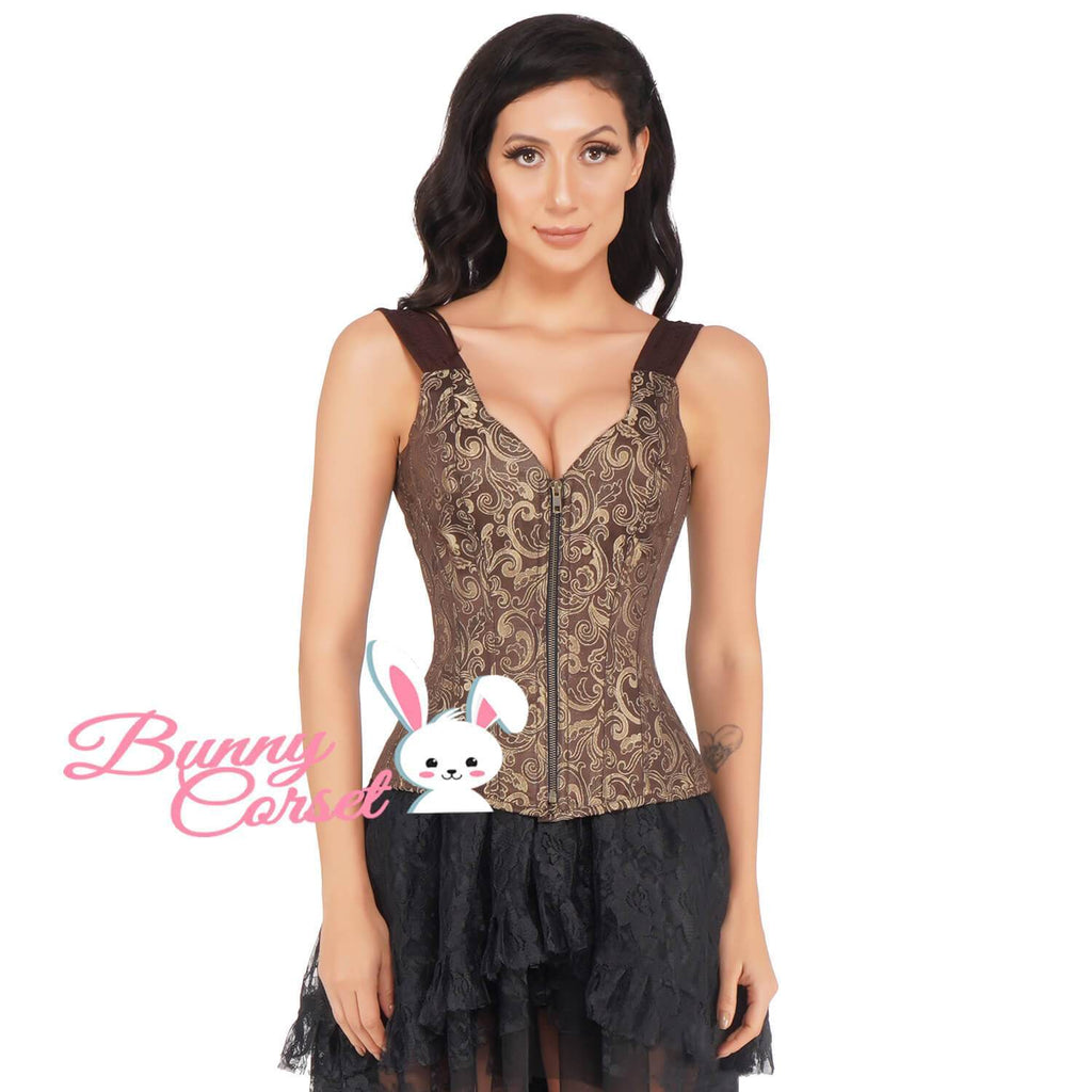 Genisia Overbust Corset With Shoulder Straps
