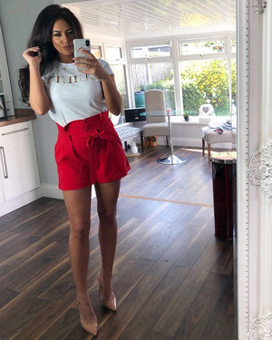 Natalie Shorts Red