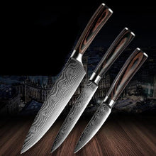 Load image into Gallery viewer, Damascus Pattern Kitchen Knives Stainless Steel Cooking - Kitchen Altitude