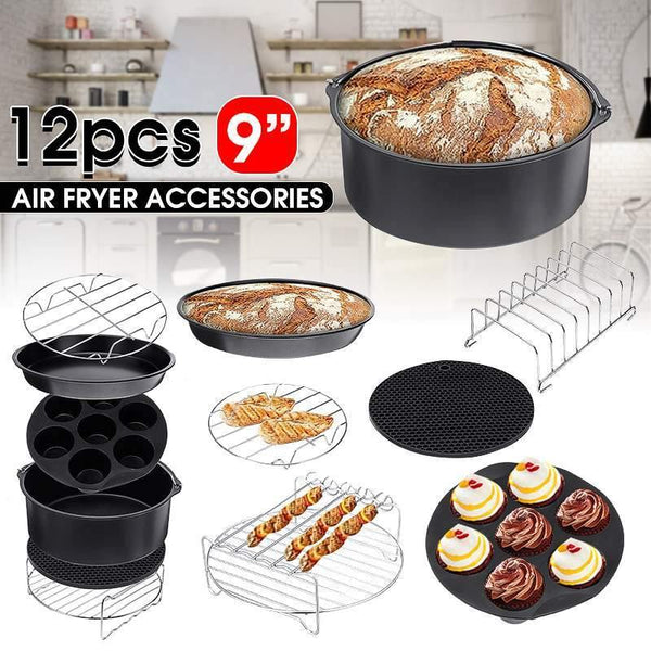 Air Fryer 9 Inch Fit for Kitchen 12pcs - Kitchen Altitude
