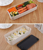 900ml 3 Layers Lunch Box Bento Food Container Eco-Friendly Wheat Straw Material Microwavable Dinnerware Lunchbox 2020 - Kitchen Altitude