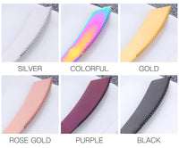 Stainless Steel Rainbow Steak Knives Set Cutlery Dinner Knife - Kitchen Altitude