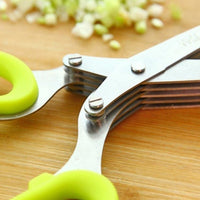 Multifunctional Muti Layers Stainless Steel Knives Multi-Layers KItchen Scissors - Kitchen Altitude