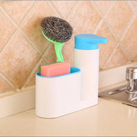 Kitchen Soap Dispenser with Sponge Rack - Kitchen Altitude