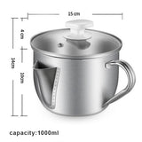 Stainless Steel Oil Filter Pot - Kitchen Altitude
