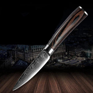 Damascus Pattern Kitchen Knives Stainless Steel Cooking - Kitchen Altitude