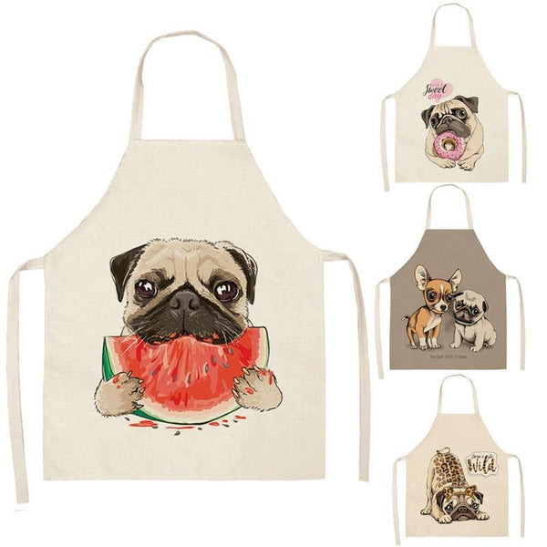 Cartoon Dogs Printed Kitchen Aprons - Kitchen Altitude
