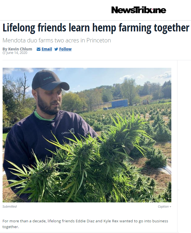 Lifelong friends learn hemp farming together