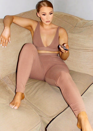 Mislani ribbed bralette and leggings