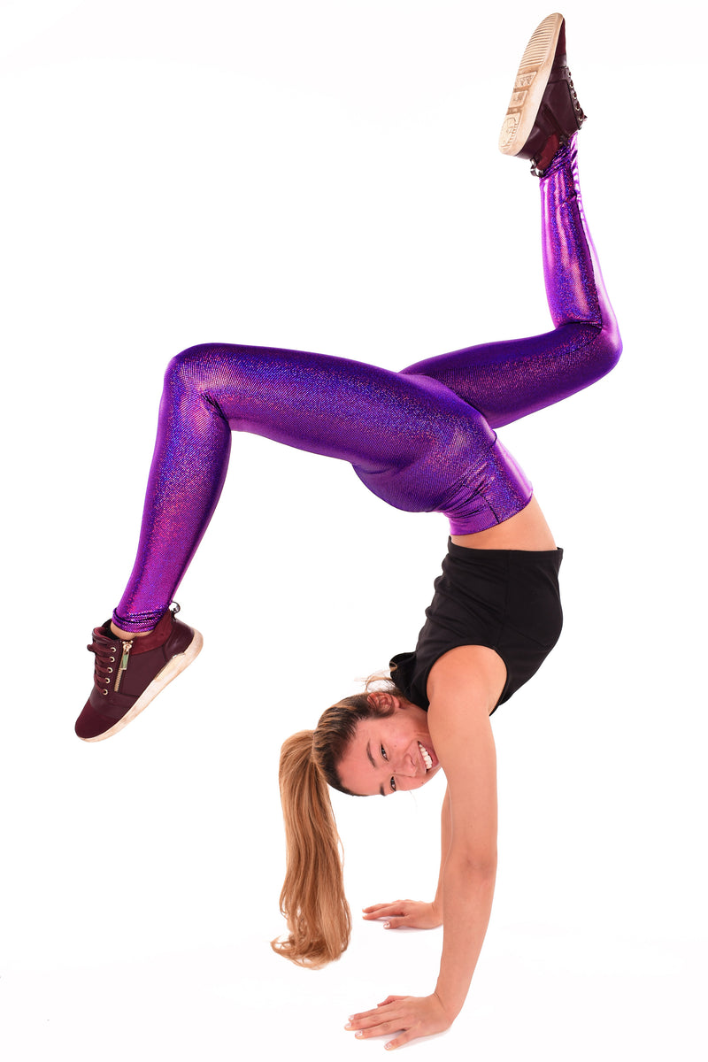Women's Amazing Amethyst Purple Holographic & Iridescent Leggings