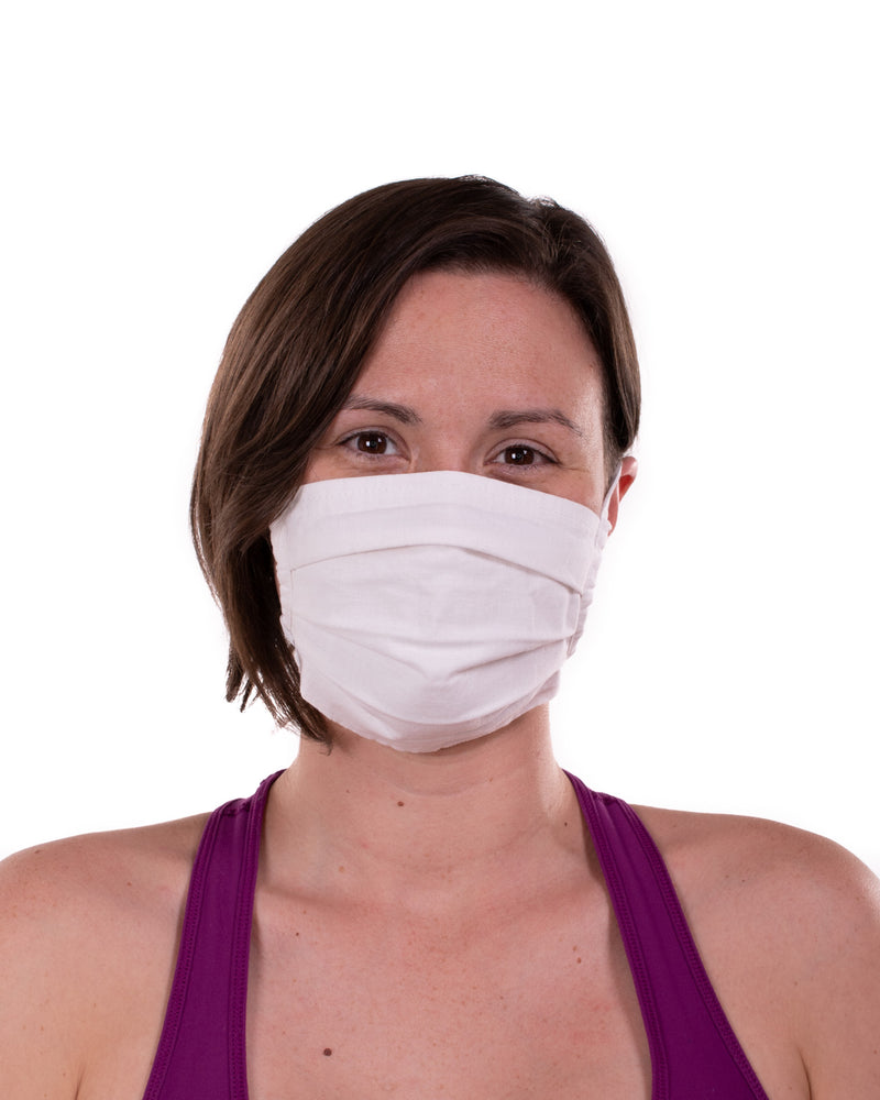 100 Reusable Washable Cotton Face Masks: Bulk Order White