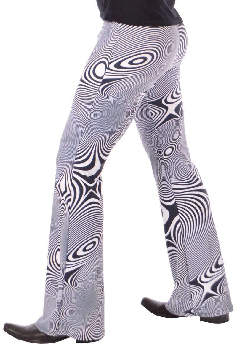 Vertigo: Mens Psychedelic Flares - Trippy Music Festival Bell Bottoms - 60's & 70's Party Costume