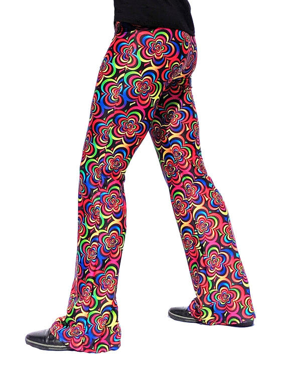 Flower Child: Psychedelic Flared Bell Bottom Pants - 60's or 70's Disco Costume