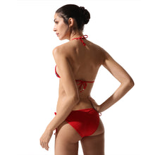 Load image into Gallery viewer, Tie-Side Bikini Red Coral