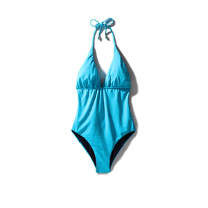 Classic One Piece Swimsuit Mediterranean Blue - Onepieceswimsuit_Woman - KAMPOS