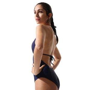Classic One Piece Swimsuit Navy - Onepieceswimsuit_Woman - KAMPOS