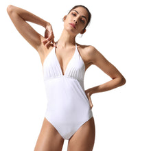 Load image into Gallery viewer, Classic One Piece Swimsuit White - Onepieceswimsuit_Woman - KAMPOS