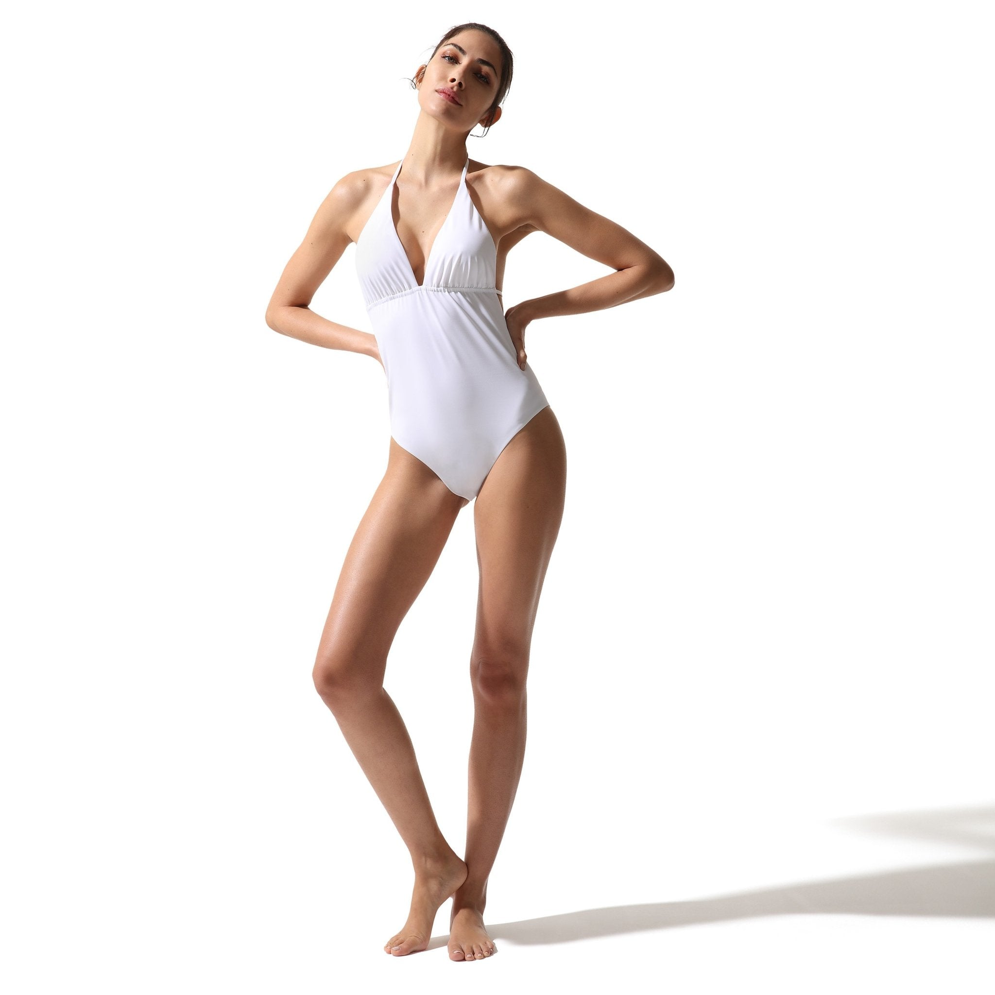 Classic One Piece Swimsuit White - Onepieceswimsuit_Woman - KAMPOS