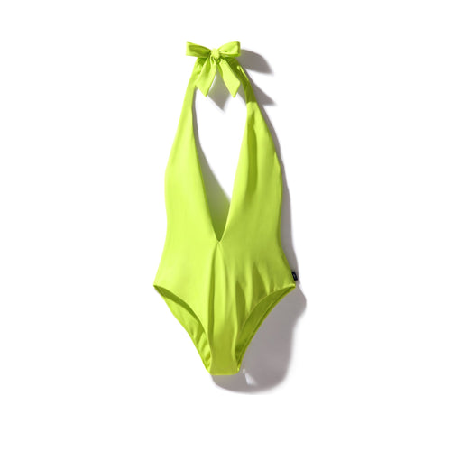 Plunge Swimsuit Cactus Green - Onepieceswimsuit_Woman - KAMPOS