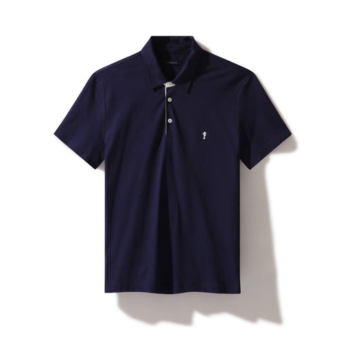 Polo Shirt Navy (and White) - Polo_Man - KAMPOS