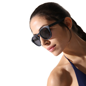 Sunglasses Round Blue - Sunglasses_Unisex - KAMPOS