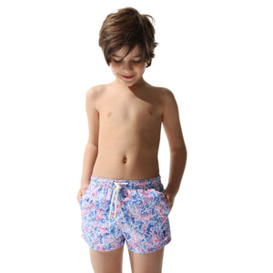 Swim Shorts Coral Forest (Red) (Kids) - Swimshorts_Kid - KAMPOS