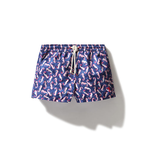 Swim Shorts Seahorse (Navy) (Kids) - Swimshorts_Kid - KAMPOS