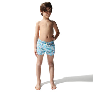 Swim Shorts Seahorse (Turquoise) (Kids) - Swimshorts_Kid - KAMPOS