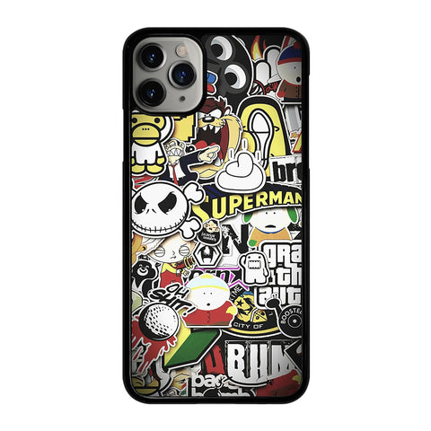 BAPE STICKER BOMB iPhone 11 Pro Max Case Cover