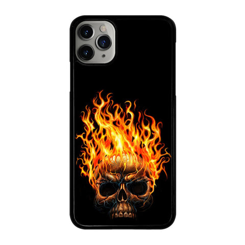BIKER SKULL FLAMING iPhone 11 Pro Max Case Cover