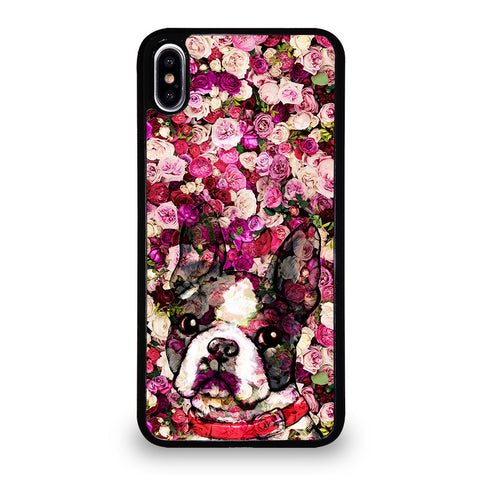 BOSTON TERRIER DOG 2 iPhone XS Max Case Cover