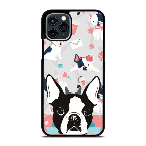 BOSTON TERRIER DOG 3 iPhone 11 Pro Case Cover