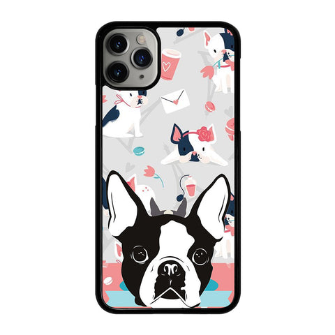 BOSTON TERRIER DOG 3 iPhone 11 Pro Max Case Cover