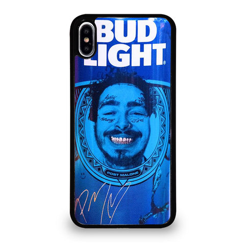 BUD LIGHT BEER POST MALONE iPhone XS Max Case Cover