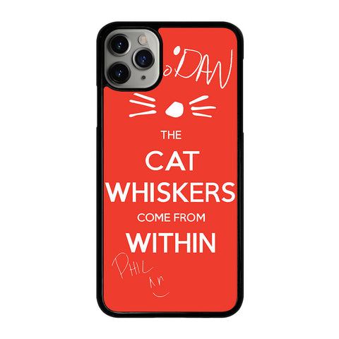 DAN AND PHIL THE WHISKERS 1 iPhone 11 Pro Max Case Cover