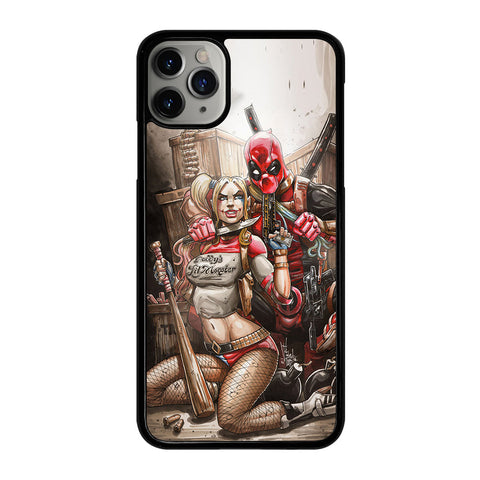 DEADPOOL HARLEY QUINN 2 iPhone 11 Pro Max Case Cover