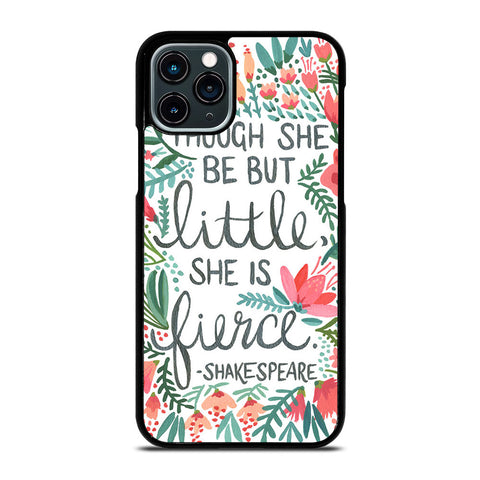 FLORAL SHAKESPEARE QUOTE iPhone 11 Pro Case Cover
