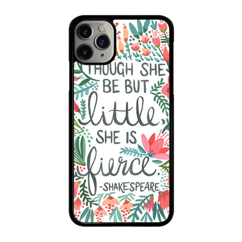 FLORAL SHAKESPEARE QUOTE iPhone 11 Pro Max Case Cover