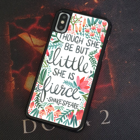 FLORAL SHAKESPEARE QUOTE iPhone Case