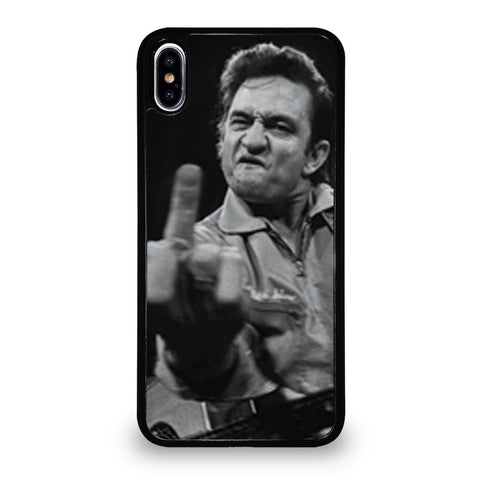 JOHNNY CASH MIDDLE FINGER iPhone XS Max Case Cover