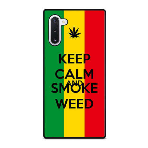 KEEP CALM AND SMOKE WEED 2 Samsung Galaxy Note 10 Case Cover