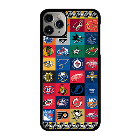 NHL ALL LOGO TEAM iPhone 11 Pro Max Case Cover