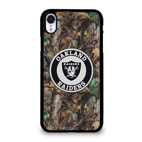 OAKLAND RAIDERS TREE CAMO iPhone XR Case Cover