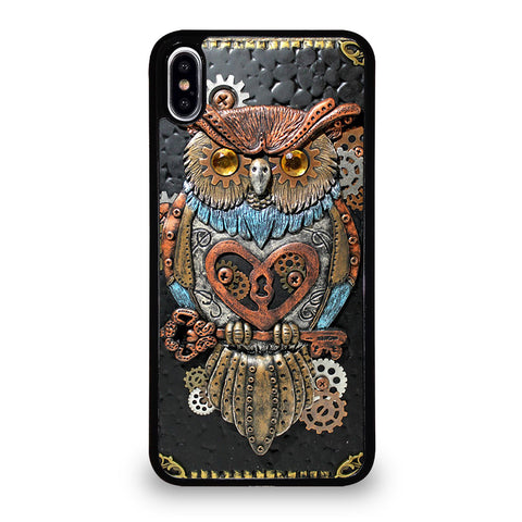 OWL STEAMPUNK BOOK iPhone XS Max Case Cover