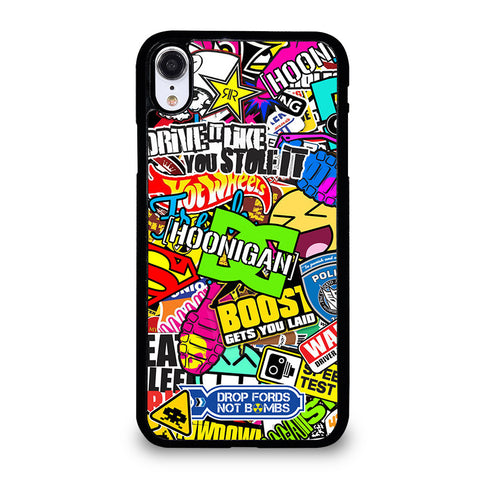 STICKER BOMB DC HOONIGAN iPhone XR Case Cover