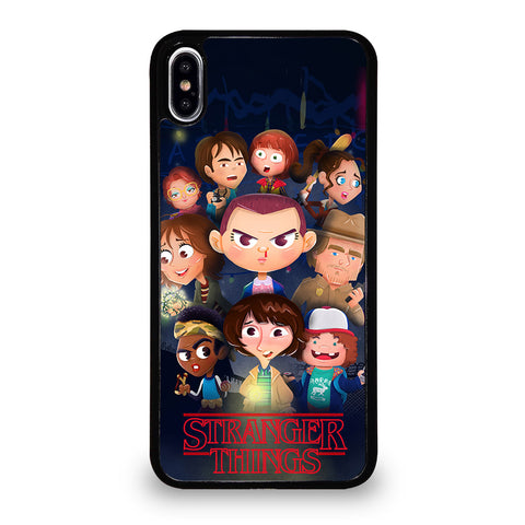 STRANGER THINGS CHARACTERS 4 iPhone XS Max Case Cover