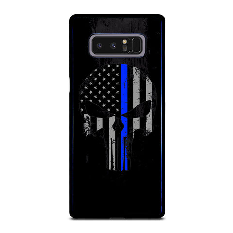 THIN BLUE LINE PUNISHER BLACK Samsung Galaxy Note 8 Case Cover